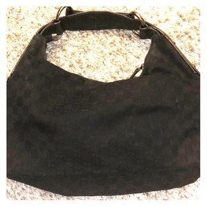 Gucci authentic logo hobo bag
